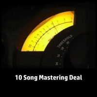 10 Song Audio Mastering Deal